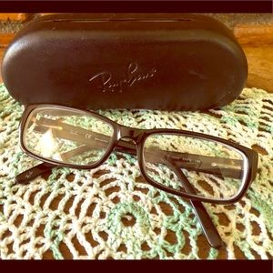 Ray Ban black frame eyeglasses with case